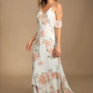 Lulus NWT Take You There Floral Maxi Dress